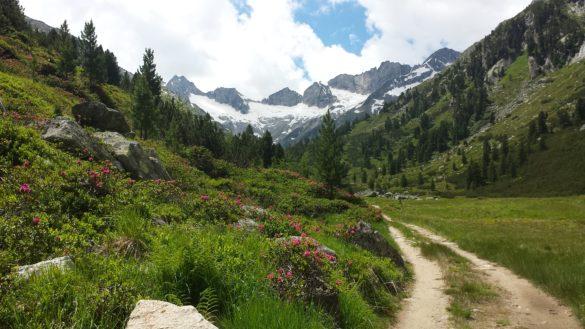 Cesta k chatě údolím Rainbachtal