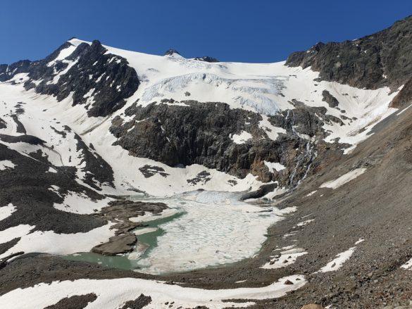 Sulzenausee a ledovec Sulzenauferner