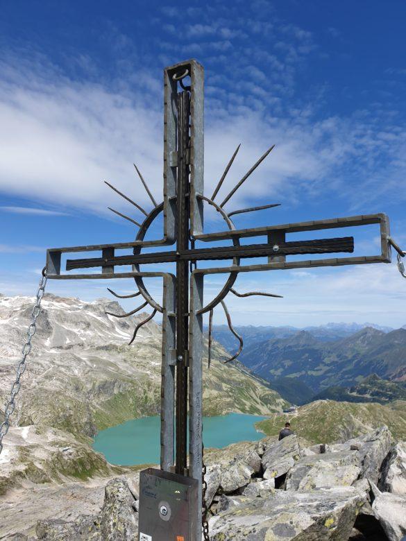Medelzkopf - vrcholový kříž