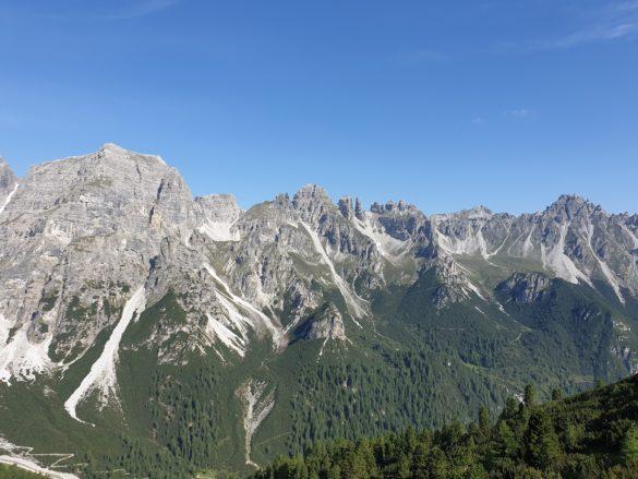 Horský masiv Kalkkögel - pohled z horní stanice lanovky