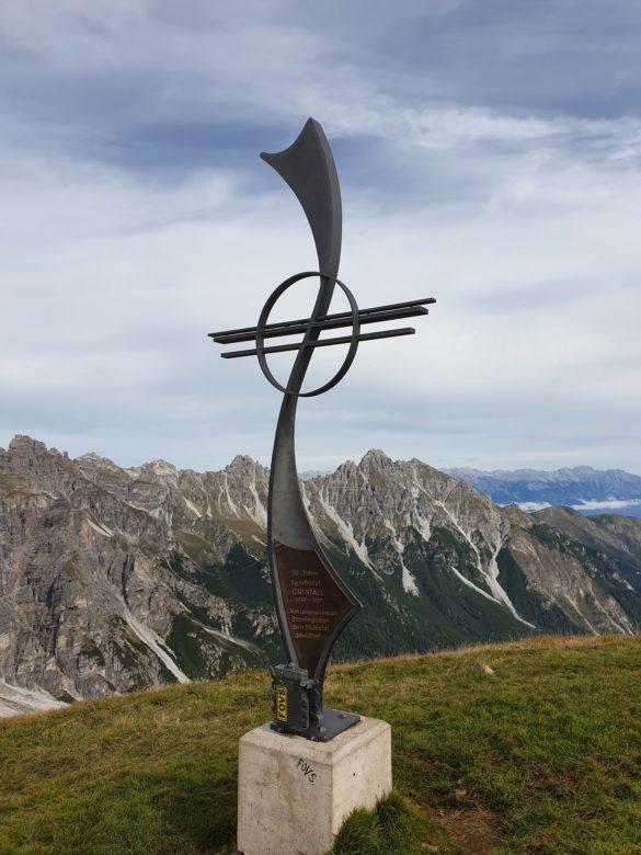 Niederer Burgstall - vrcholový kříž